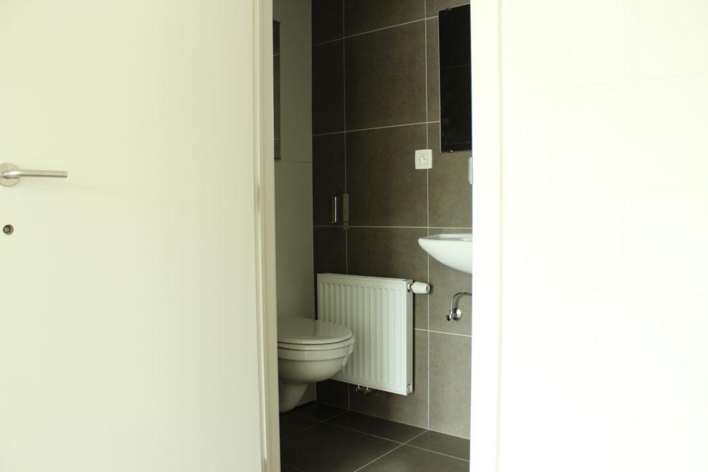 Wilgenstraat 45 - Kamer 13 - Deur badkamer met toilet en lavabo