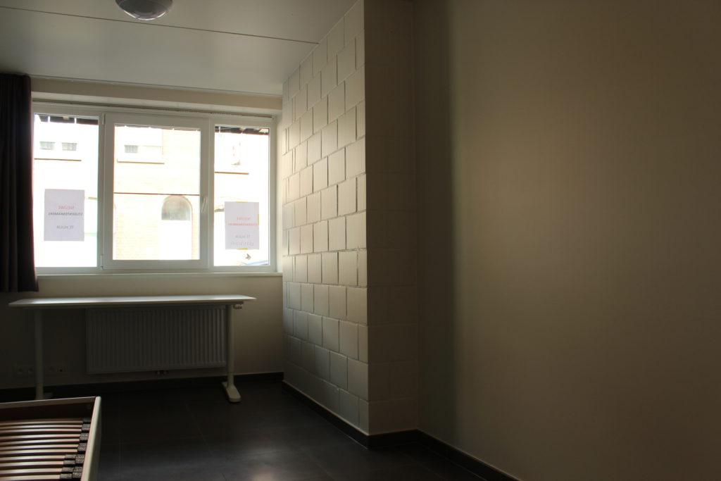 Wilgenstraat 45 - Kamer 2 - Bed, verwarming, bureau en venster