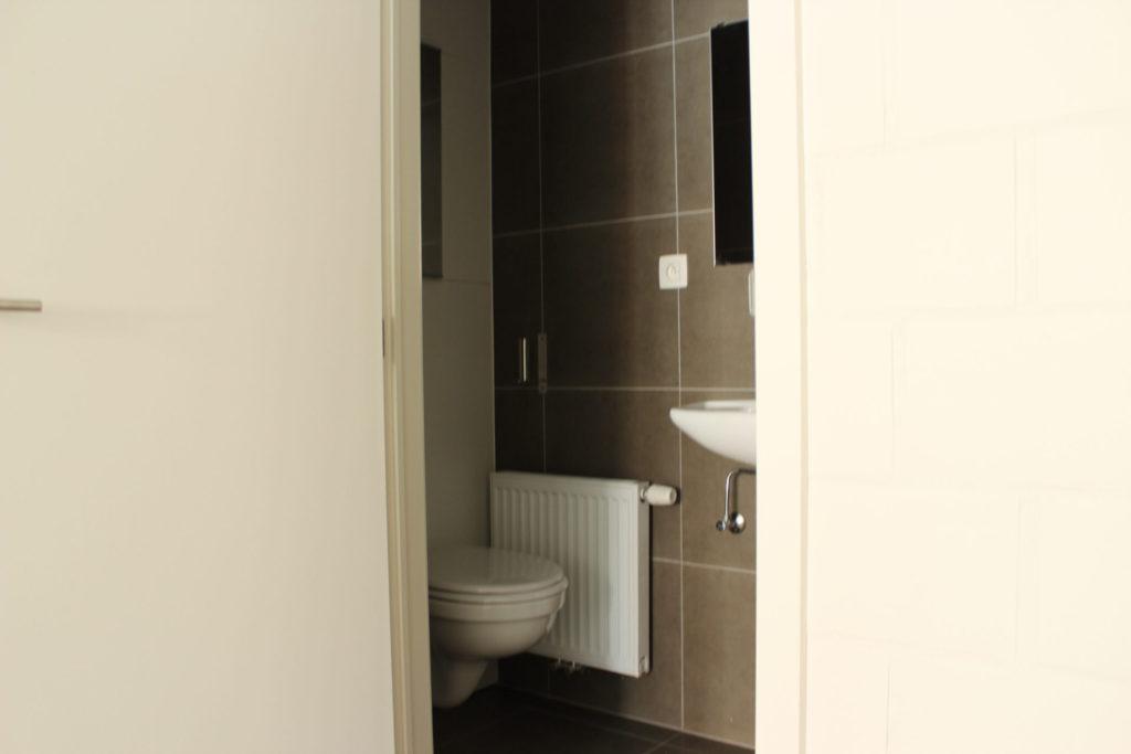 Wilgenstraat 45 - Kamer 1 - Deur badkamer met toilet en lavabo