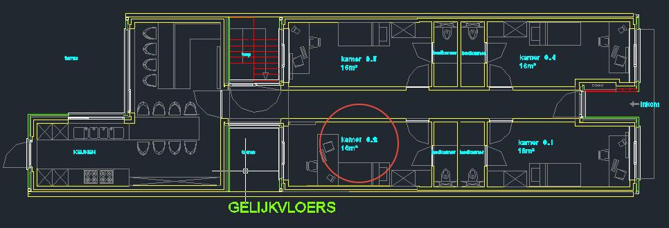 Wilgenstraat 45 - Kamer 2 - Grondplan