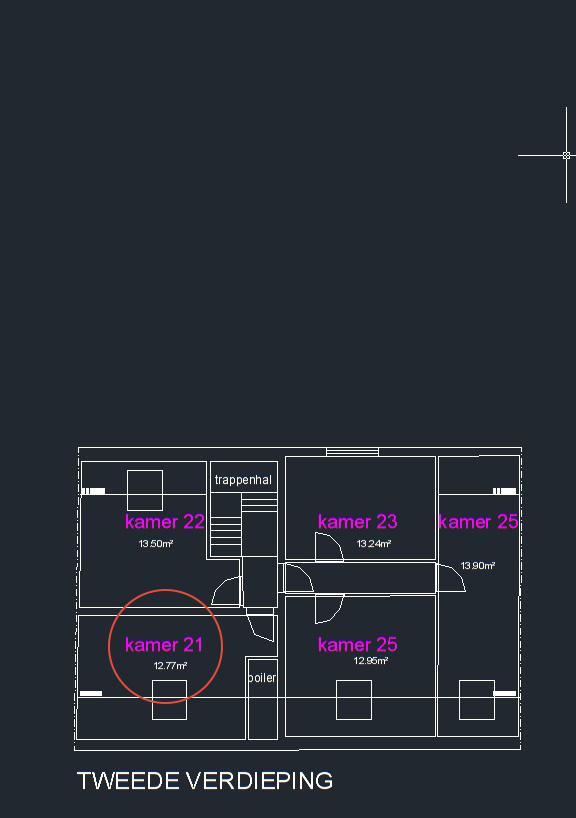 Wilgenstraat 49 - Kamer 21 - Grondplan